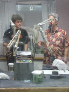 Image of Nick Sherbo and David Loftus recording.